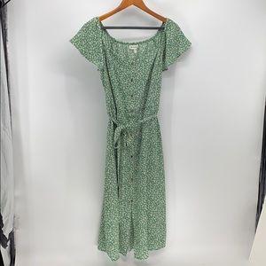 Monteau cottagecore tie waist midi dress